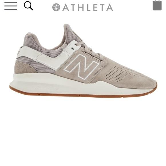 New Balance 247 Nubuck Sneaker Sea Salt